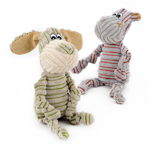 Puppy and Monkey Striped doggie Toy