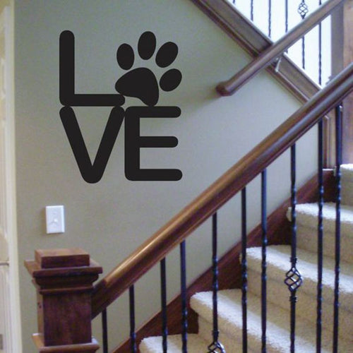 Paw Love Wall Decal / Sticker - 3 sizes