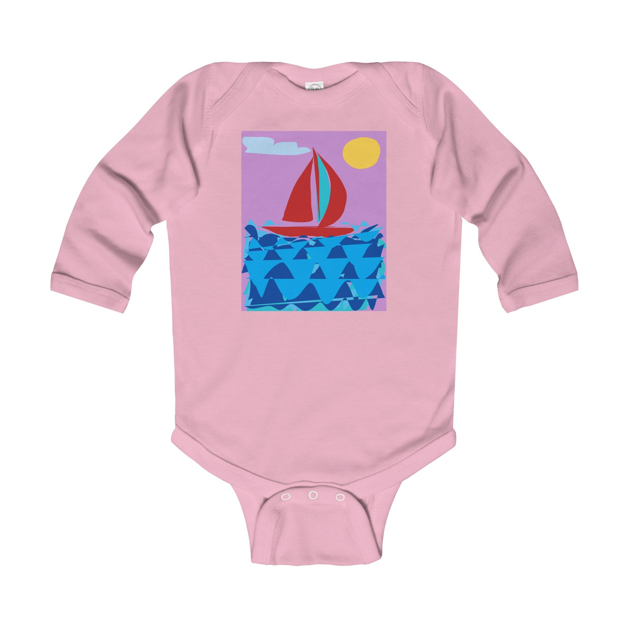 Infant Long Sleeve Bodysuit-Kids clothes-Printify-6-12M-Pink-Love My Husband Shop