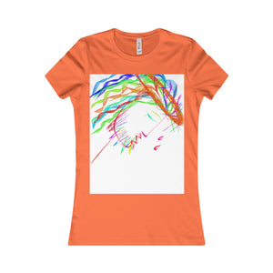 Women's Favorite Tee-T-Shirt-Printify-Orange-S-Love My Husband Shop