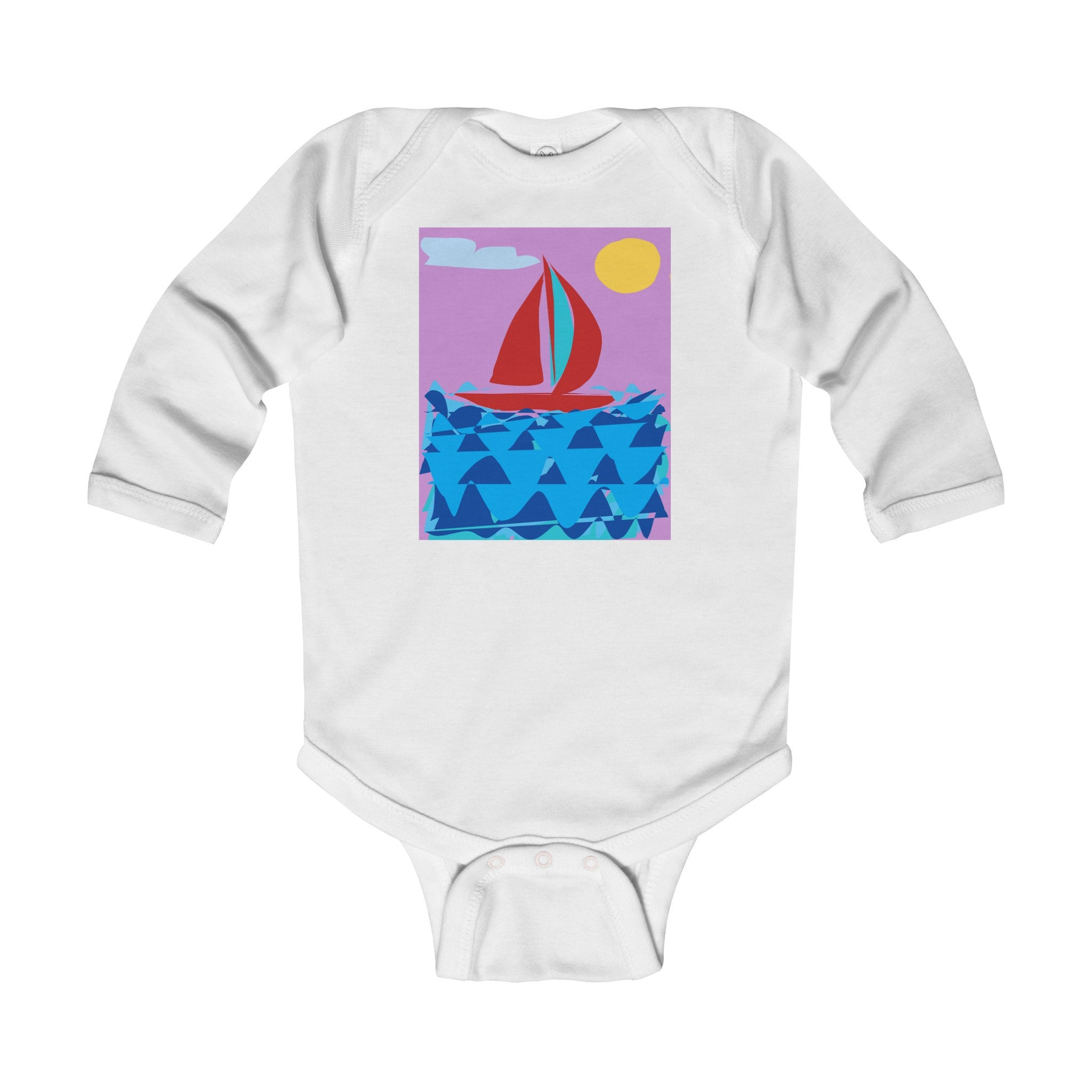 Infant Long Sleeve Bodysuit-Kids clothes-Printify-6-12M-White-Love My Husband Shop