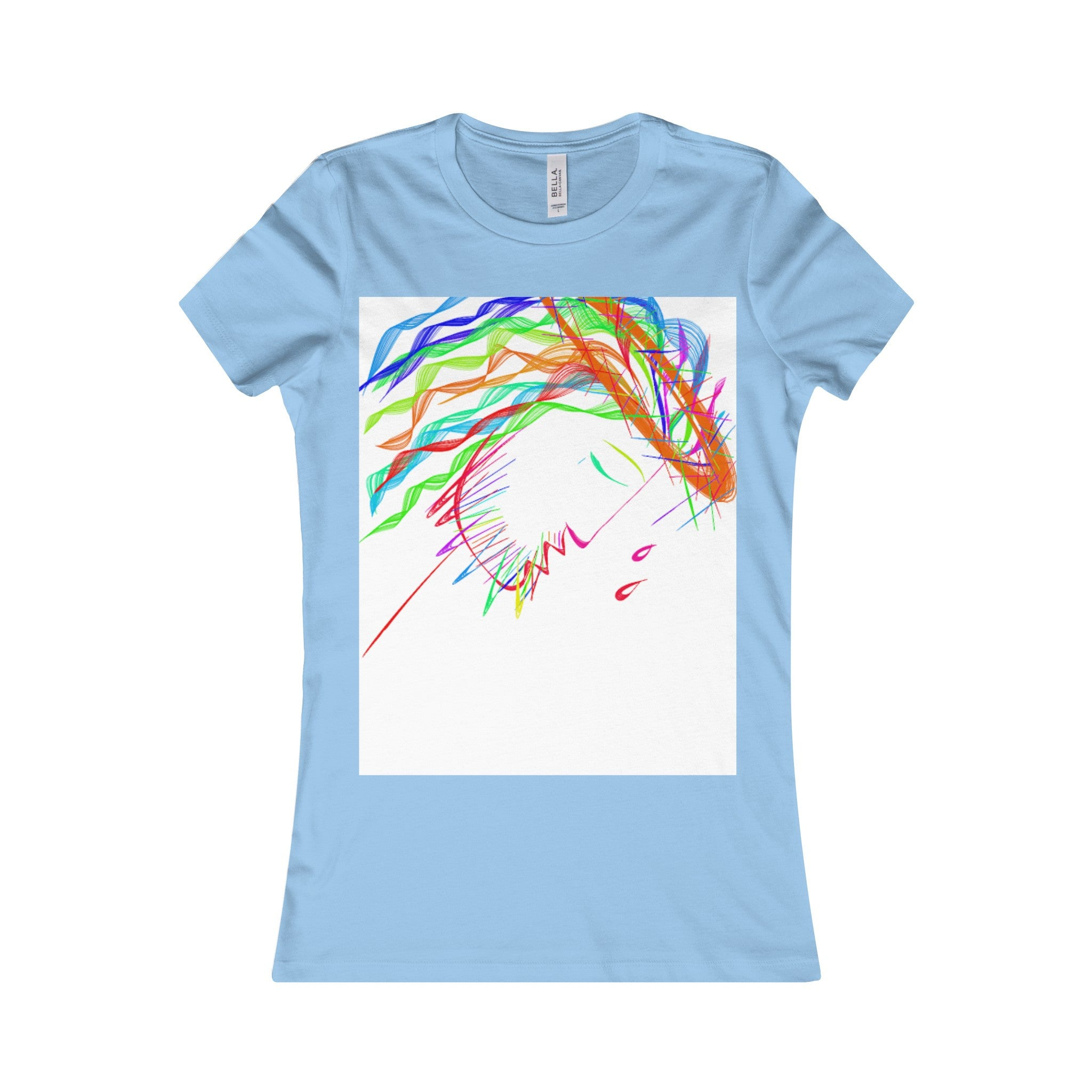 Women's Favorite Tee-T-Shirt-Printify-Baby Blue-S-Love My Husband Shop