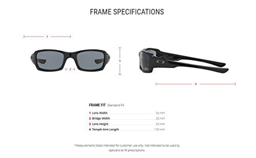 Oakley Men's Fives Squared OO9238-04 Rectangular Sunglasses, Polished Black, 54 mm-sunglasses-Amazon-Love My Husband Shop