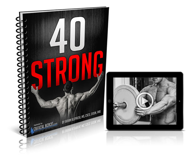 40 Strong Muscle Building Program-Book-Critical Bench-Love My Husband Shop