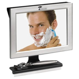 Fogless Shower Mirror with Squeegee by ToiletTree Products. Guaranteed Not to Fog, Designed Not to Fall. (Silver)-Gadgets-Amazon-Love My Husband Shop