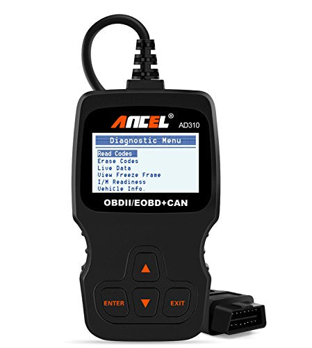 ANCEL AD310 Classic Enhanced Universal OBD II Scanner Car Engine Fault Code Reader CAN Diagnostic Scan Tool - Black-automotive-Amazon-Love My Husband Shop
