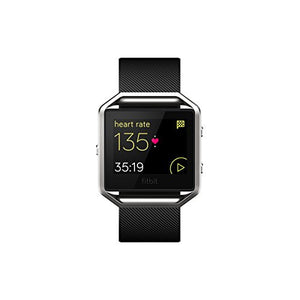 Fitbit Blaze Smart Fitness Watch, Black, Silver, Large (US Version)-Fitness-Amazon-Love My Husband Shop