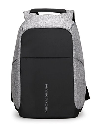 Markryden Anti-theft Laptop Backpack Business Bags with USB Charging Port School Travel Pack Fits Under 15.6 Inch Laptop(Gray 2.1)-backpack-Amazon-Love My Husband Shop