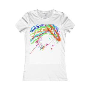 Women's Favorite Tee-T-Shirt-Printify-White-S-Love My Husband Shop