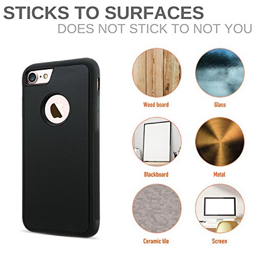 Anti-Gravity Nano-Suction Technology FTA Case for iPhone 7, iPhone 8, 7-8 PLUS in Black (iPhone 7 & 8)-GADGET-Amazon-Love My Husband Shop