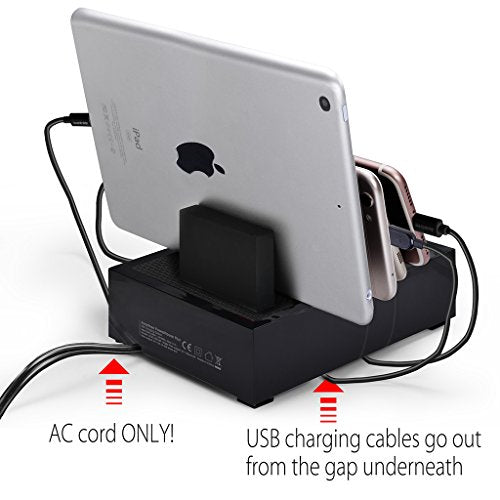 Avantree 4 Port 8A USB Charging Station Organizer for Multiple Devices Fast Charger Docking with Cable Management for Smart Phones & iPhone iPad Tablets-GADGET-Amazon-Love My Husband Shop