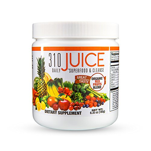 310 Juice | Daily Organic Superfood Powder and Cleanse with Probiotics | Boosts Metabolism | Improves Memory | Natural Juice Cleanse-Men Fit Beyond 40-Love My Husband Shop