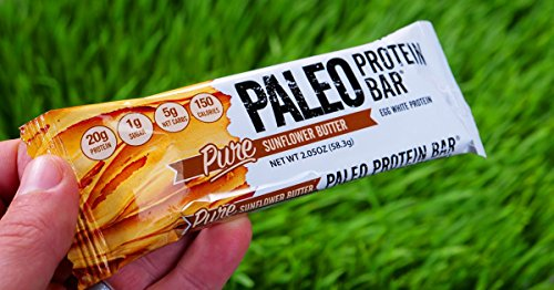 Paleo Thin® Protein Bar (Organic Sunflower Butter) (150 Cal, 20g Egg White Protein 5 Net Carbs) (12 Bars)-Health-Amazon-Love My Husband Shop