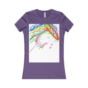 Women's Favorite Tee-T-Shirt-Printify-Purple-S-Love My Husband Shop