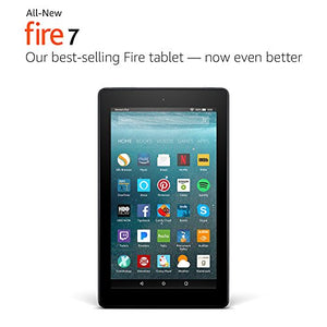 "All-New Fire 7 Tablet with Alexa, 7"" Display, 8 GB, Black - with Special Offers-Gadgets-Amazon-Love My Husband Shop"