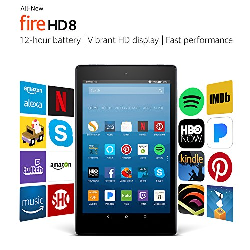 "All-New Fire HD 8 Tablet with Alexa, 8"" HD Display, 16 GB, Black - with Special Offers-Gadgets-Amazon-Love My Husband Shop"