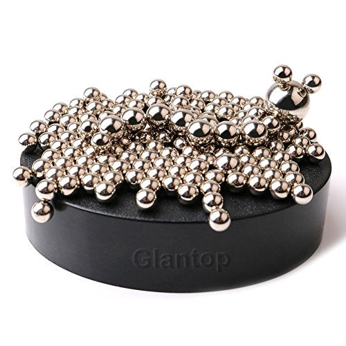 Glantop® Magnetic Sculpture Desk Toy for Intelligence Development and Stress Relief (Set of 160 Balls, 1 Magnet Base)-Gadgets-Amazon-Love My Husband Shop