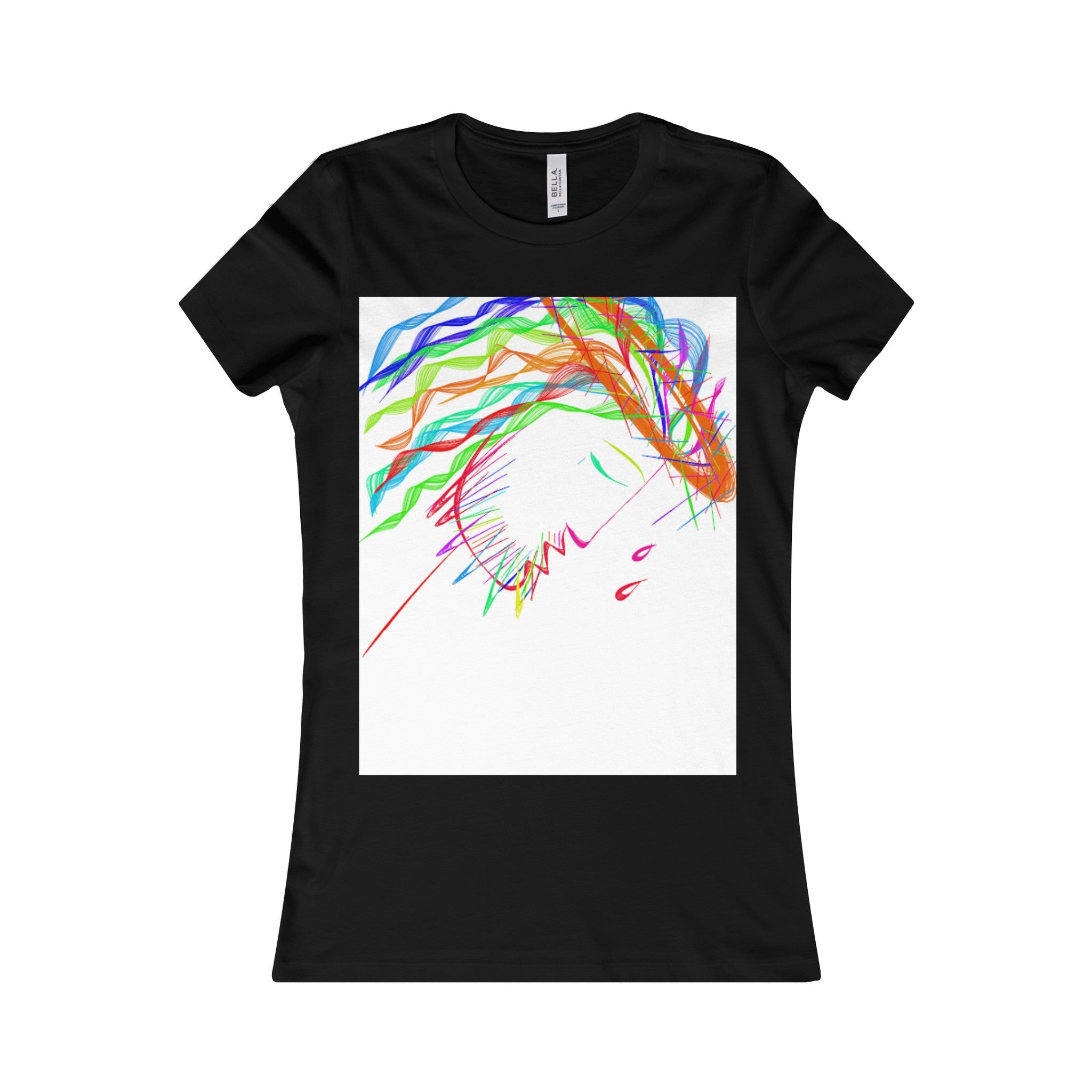 Women's Favorite Tee-T-Shirt-Printify-Black-S-Love My Husband Shop