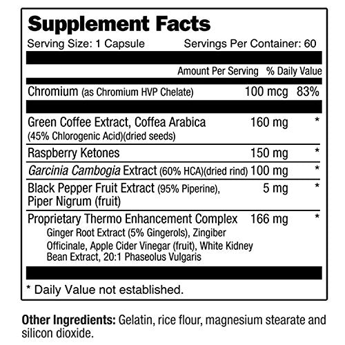 310 Thin Metabolism Booster With Garcinia Cambogia | Green Coffee and Ketones Extract | Crush Cravings and Boost Metabolism | Fight Hunger | Control Cravings | Enhance Energy-Men Fit Beyond 40-Love My Husband Shop