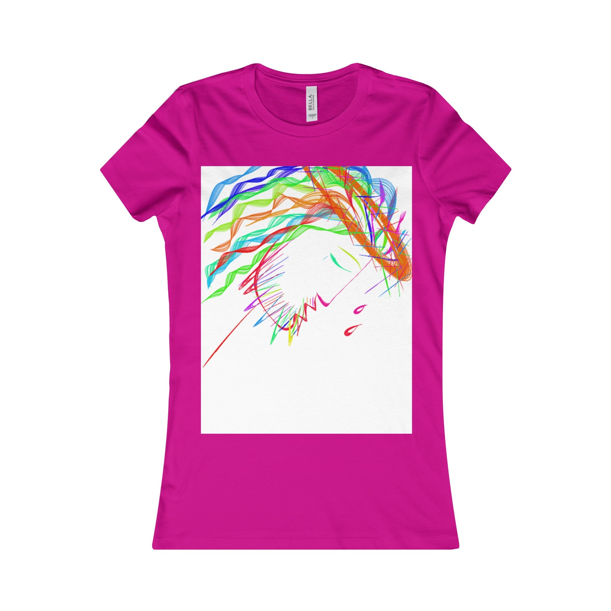 Women's Favorite Tee-T-Shirt-Printify-Berry-S-Love My Husband Shop