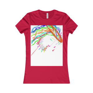 Women's Favorite Tee-T-Shirt-Printify-Red-S-Love My Husband Shop
