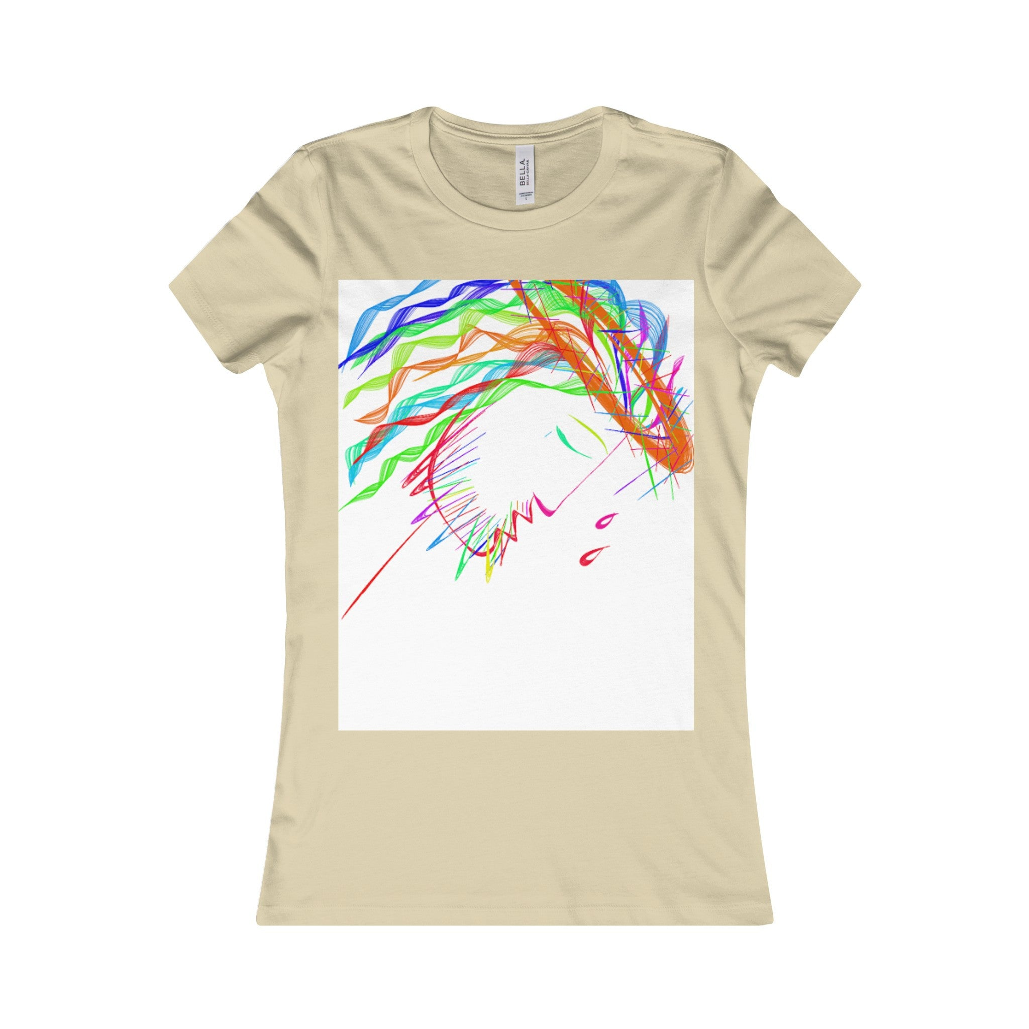 Women's Favorite Tee-T-Shirt-Printify-Soft Cream-S-Love My Husband Shop