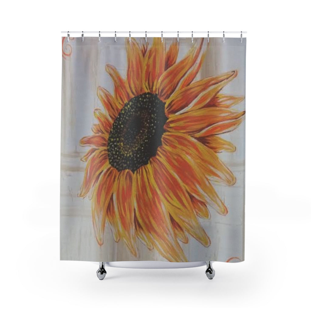 Unique Shower Curtains - Sun Flower (designed by Freesia Castillo)-Home Decor-Printify-Love My Husband Shop