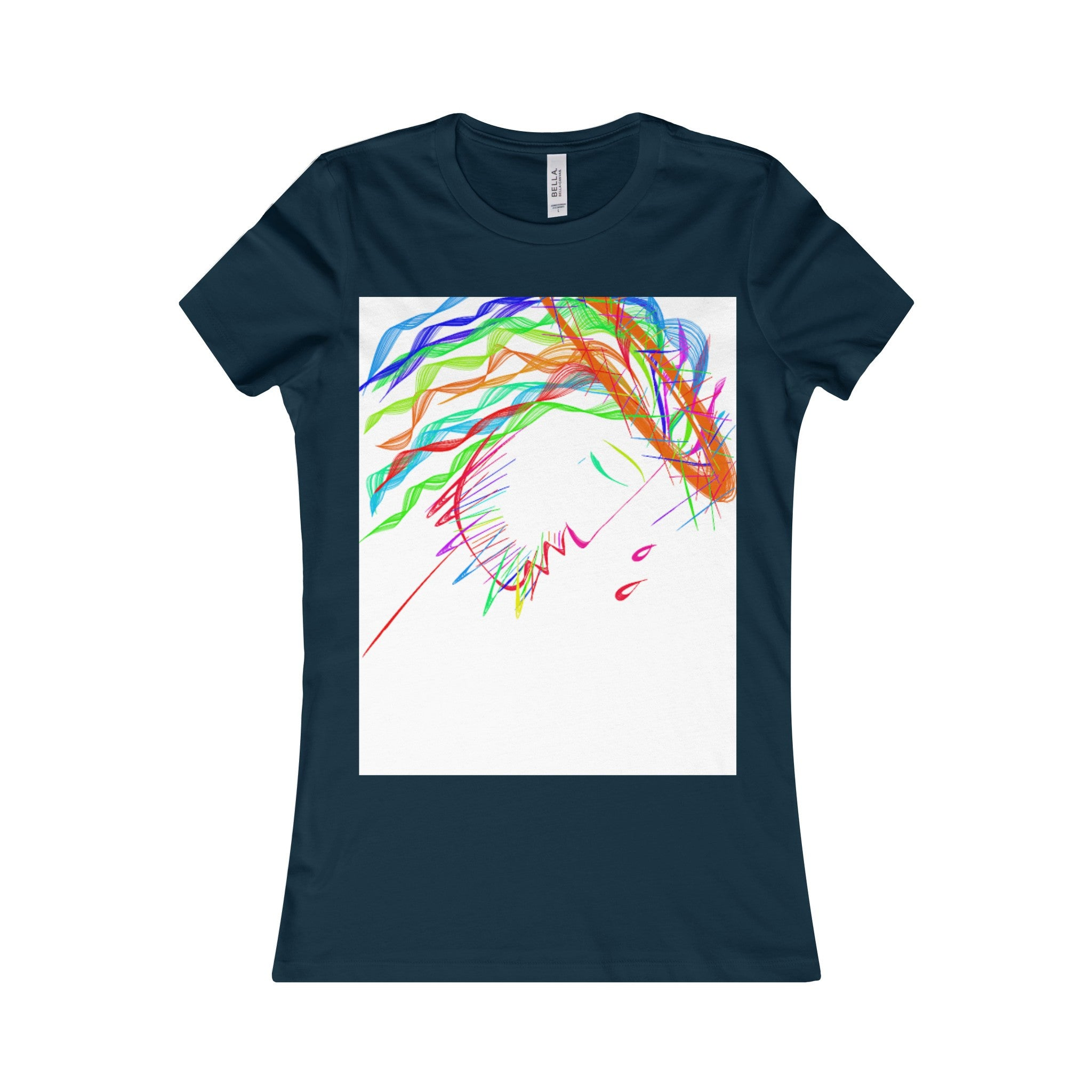 Women's Favorite Tee-T-Shirt-Printify-Navy-S-Love My Husband Shop