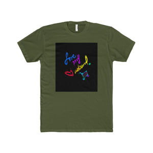 Men's Premium Fitted Short-Sleeve Crew Neck T-Shirt-T-Shirt-Printify-Solid Military Green-XS-Love My Husband Shop