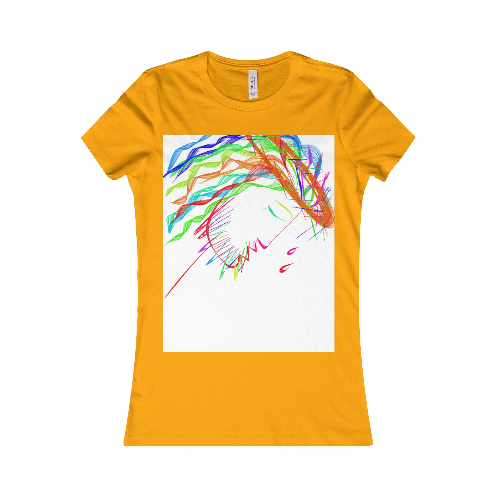 Women's Favorite Tee-T-Shirt-Printify-Gold-S-Love My Husband Shop