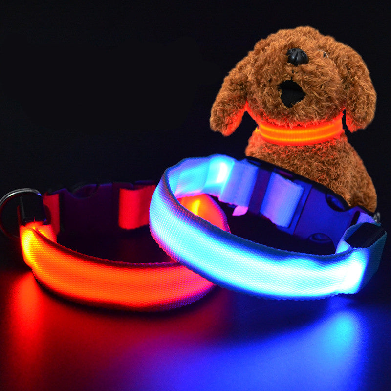 LED Night Flashing Glowing Pet Dog Collar-Trending products - October 2017-Love My Husband Shop-Love My Husband Shop