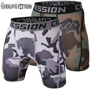 Tight Elastic Camouflage Compression Shorts-shorts-Love My Husband Shop-Love My Husband Shop