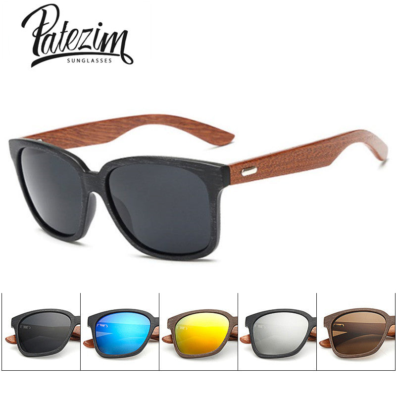 Designer Wooden Frame Sunglasses for Men by Patezim-glasses-Panoramic Art-Love My Husband Shop