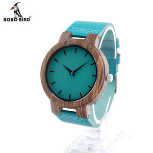 Watches for Men - BOBO BIRD High Quality Bamboo Wood with Blue Face-watch-Bobo Bird-Love My Husband Shop