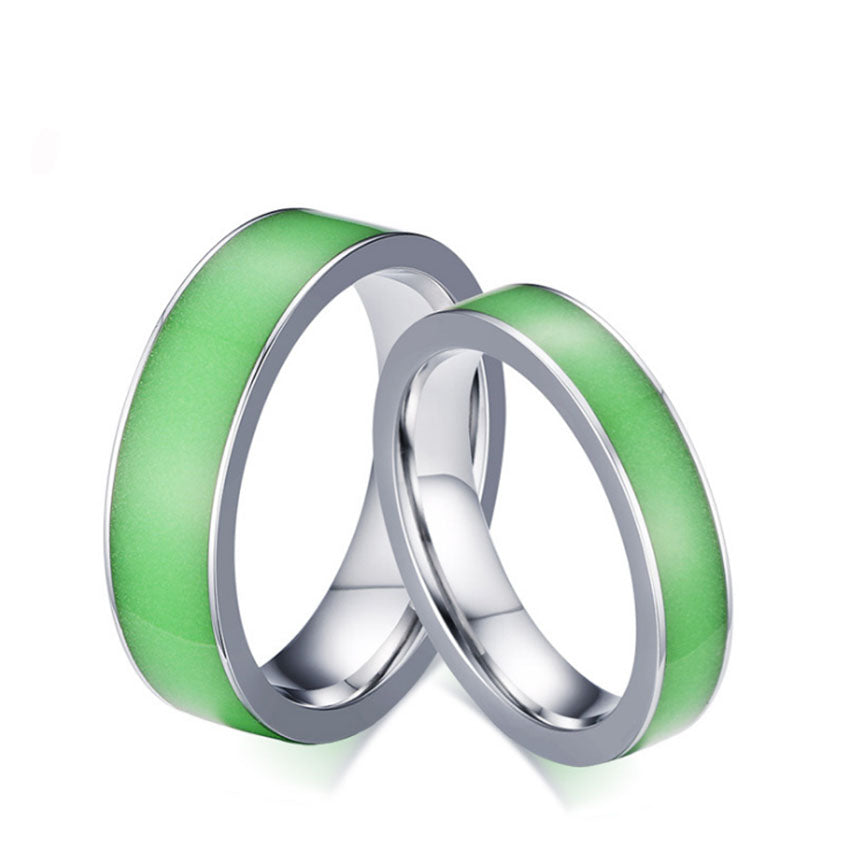 Mens Wedding Bands - Stainless Steel Green Silicone-ring-Love My Husband Shop-Love My Husband Shop