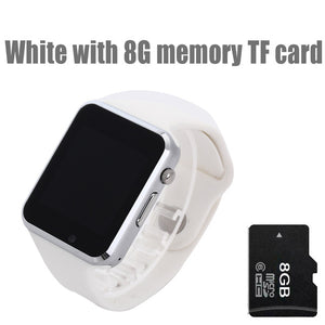 Smart Watch - Sport Pedometer With SIM Camera For Android Smartphone-watch-Love My Husband Shop-white with 8G card-China-Love My Husband Shop