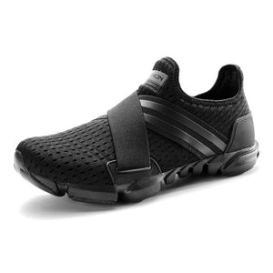 Hard Court Wide Running Shoes. Breathable Slip-on Sneakers - Free Shipping-shoes-Love My Husband Shop-Black-7-Love My Husband Shop