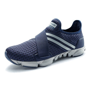 Hard Court Wide Running Shoes. Breathable Slip-on Sneakers - Free Shipping-shoes-Love My Husband Shop-Blue-7-Love My Husband Shop