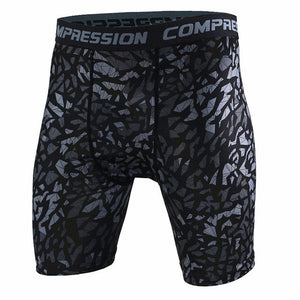 Tight Elastic Camouflage Compression Shorts-shorts-Love My Husband Shop-dark gray-L-Love My Husband Shop