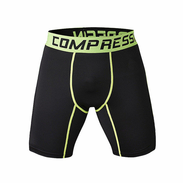 Tight Elastic Camouflage Compression Shorts-shorts-Love My Husband Shop-black green-L-Love My Husband Shop