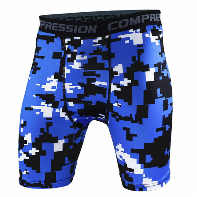 Mens Camouflage Tight compression Quick-drying shorts-compression shorts-Love My Husband Shop-C2-S-Love My Husband Shop