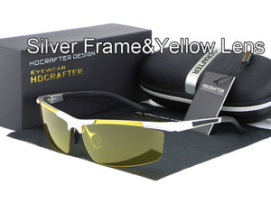 Night vision driving sun glasses-sunglasses-Men Fit Beyond 40-silver yellow-Love My Husband Shop