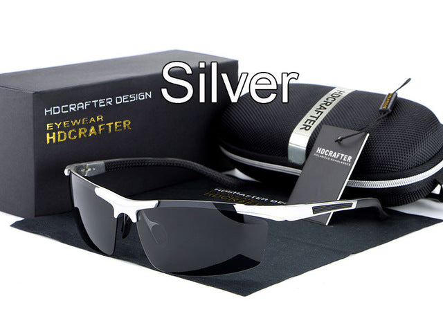 Night vision driving sun glasses-sunglasses-Men Fit Beyond 40-silver-Love My Husband Shop
