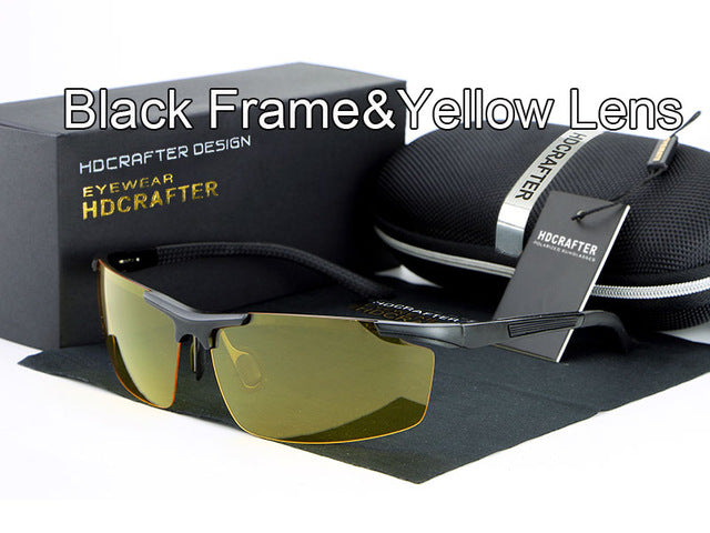 Night vision driving sun glasses-sunglasses-Men Fit Beyond 40-yellow black-Love My Husband Shop