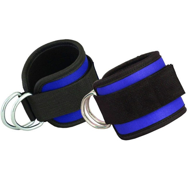 1 Pair Crossfit Ankle Cuffs - Latex Elastic Bands For Fitness Leg Training, Pilates Home Workout Gym Equipment-fitness-Love My Husband Shop-Blue-Love My Husband Shop