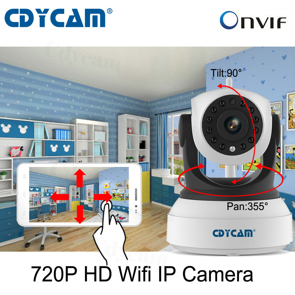 HD CCTV Wireless IP Camera - Indoor Pan/Tilt plus Night Vision-Gadgets-Panoramic Art-Love My Husband Shop