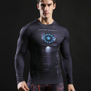 Superman Compression Top Fitness T-shirts-T-Shirts-Love My Husband Shop-AF569-L-Love My Husband Shop