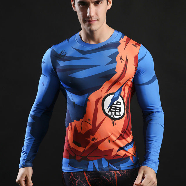 Superman Compression Top Fitness T-shirts-T-Shirts-Love My Husband Shop-AF575-L-Love My Husband Shop