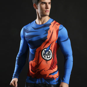 Superman Compression Top Fitness T-shirts-T-Shirts-Love My Husband Shop-Love My Husband Shop