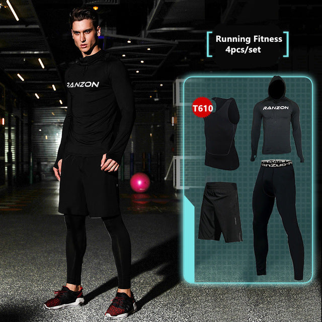 Compression Men's Sport Suits - Quick Dry Joggers Training Tracksuits-sportswear-Love My Husband Shop-2-S-Love My Husband Shop